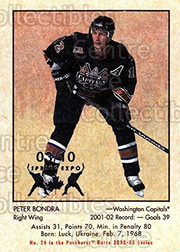 Peter Bondra Hockey Card 2002 03 Parkhurst Retro Spring Expo 24 Peter Bondra