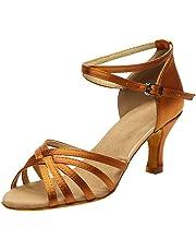 OHQ Zapatos De Baile Sandalias SóLido Mujer Rumba Waltz Prom Ballroom Salsa Latina Gran TamañO Zapatos