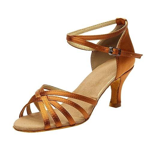 d70c12f395a72 BBestseller Moda Boca de Pescado Hebilla Abierta Romanas Chanclas Sandalias  de Tacon Alto de Mujer Zapatos de Vestir Verano Zapatillas de Playa   Amazon.es  ...