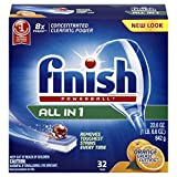 Finish All in 1 Powerball Orange 32 Tabs, Automatic Dishwasher Detergent Tablets