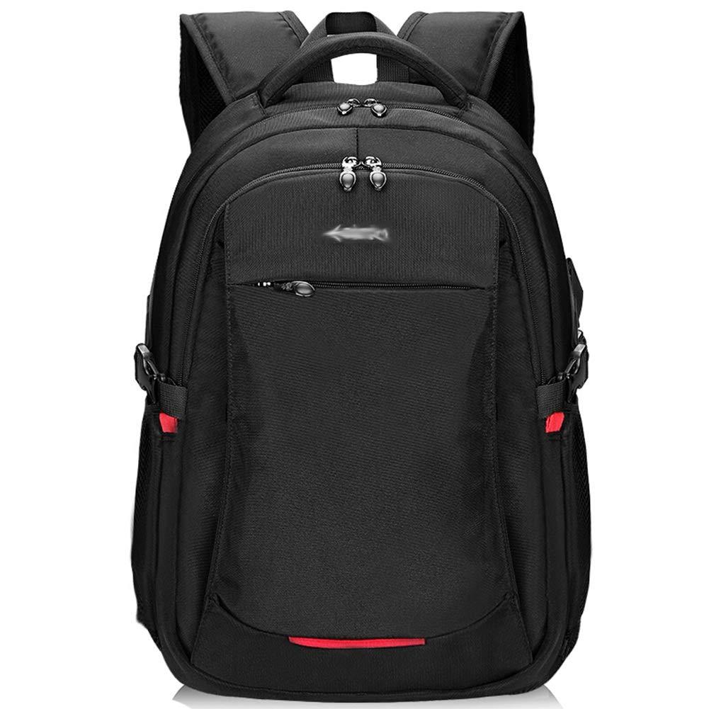 メンズバックパックビジネスバッグレジャーバッグスクールバッグラップトップバッグトラベルバッグバックパック - ファッショントレンドオックスフォード布大容量多機能 ZHML (色 : ブラック, サイズ さいず : 47.5*20*34cm) 47.5*20*34cm ブラック B07R9VX6QP