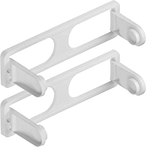 DecorRack Wall Mount Paper Towel Holder for Kitchen and Bath, Flexible Shatterproof -BPA Free- Plastic, Vertical or Horizontal Mount, Under Cabinet Folding Dispenser, Includes 2 Screws, White (2 Pack)