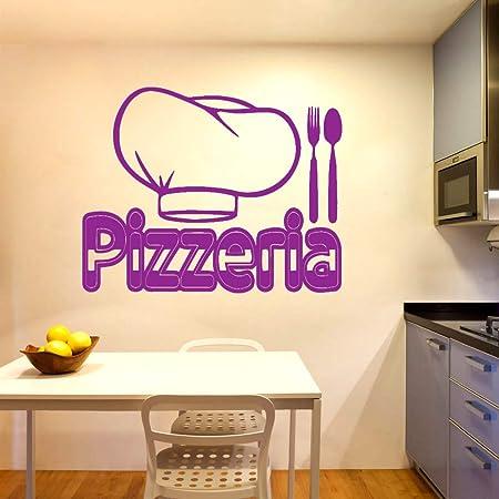 Exquisita pizzería Simple Chef Sombrero Tenedor Cuchillo ...