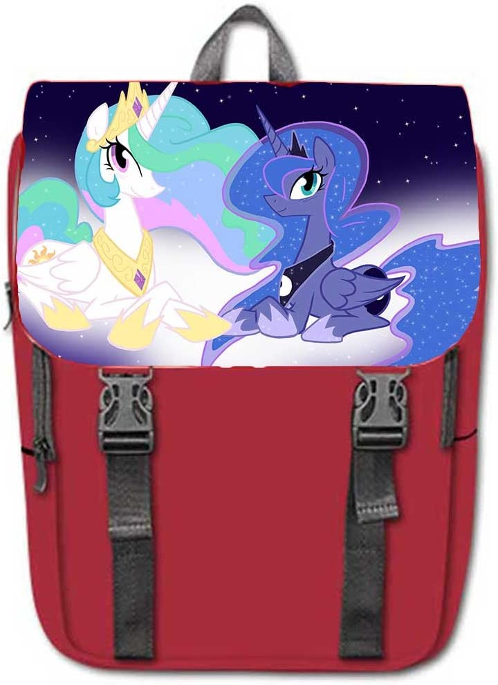 My Little Pony Print Oxford Fabric Casual Backpack BookBag School Bag.