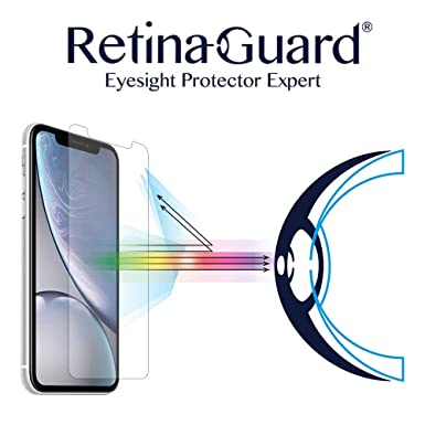 """RetinaGuard - Protector de Pantalla de Cristal Templado para iPhone XR 6.1"""" (Transparente)"""