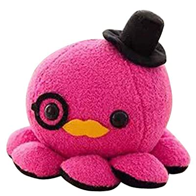 10cm Cute Octopus Plush Toy Soft Stuffed Animal Doll Xmas Christmas Birthday Valentine Gift (Hot Pink): Home & Kitchen [5Bkhe0302884]