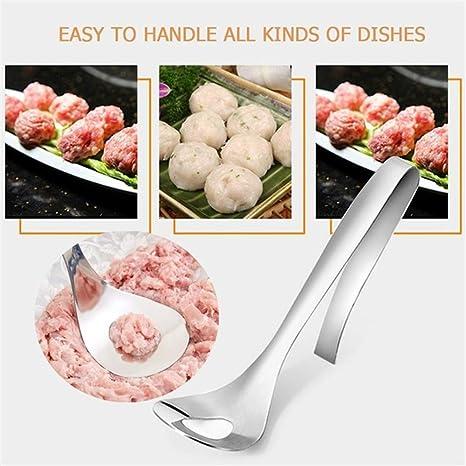 DJYJD Steel Meatball Maker Cuill/ère Home Kitchen Inoxydable boulettes de Viande Faire Une cuill/ère Ustensile de Cuisine