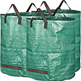 GardenMate 3-Pack 80 Gallons Professional Reusable Garden Waste Bags (H33, D26 inches) - Yard Waste Bags with Double Bottom