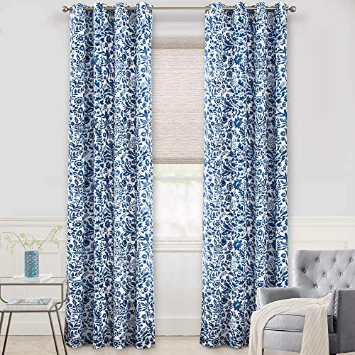 Deal of the week: DriftAway Julia Watercolor Blackout Room Darkening Grommet Lined Thermal Insulated Energy Saving Window Curtains 2 Layers 2 Panels Each Size 52 Inch