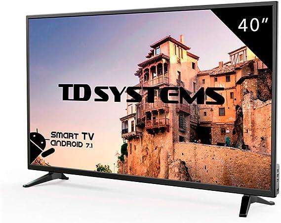 Televisor Led 40 Pulgadas Full HD Smart, TD Systems K40DLM8FS. Resolución 1920 x 1080, 3X HDMI, VGA, 2X USB, Smart TV.: Amazon.es: Electrónica