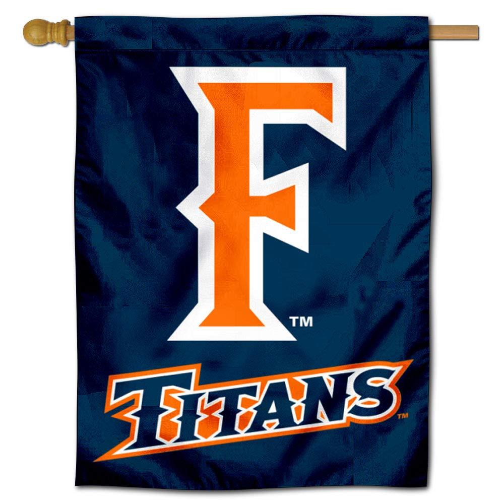 College Flags and Banners Co. カリフォルニア州フラートンタイタンズ 両面ハウスフラッグ