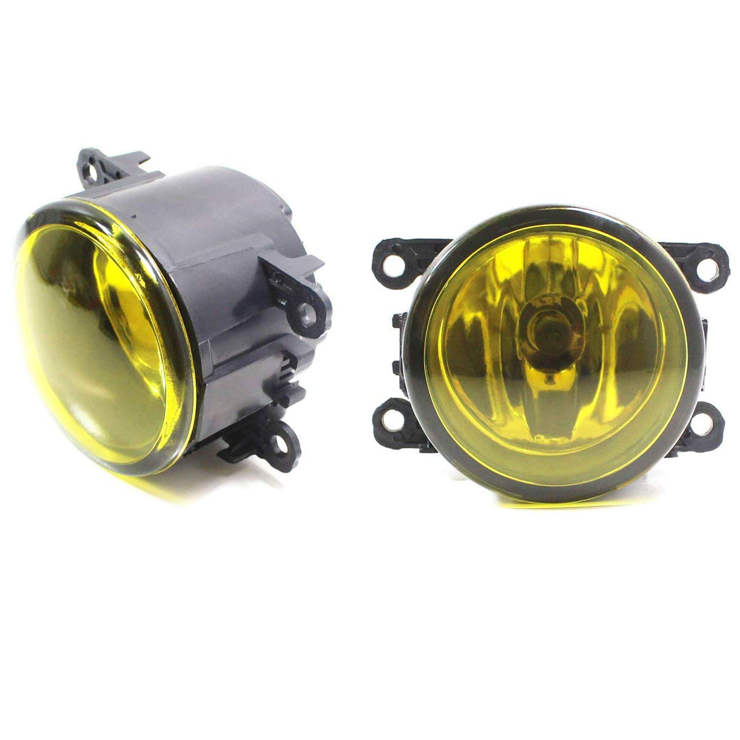 Ijdmtoy Pair Of Selective Yellow Lens Halogen Fog Lamps 2007 Wrx Light Wiring Harness Acura Honda Ford Nissan Subaru Suzuki Etc Driver Passenger Side Assembly W 2 55w H11
