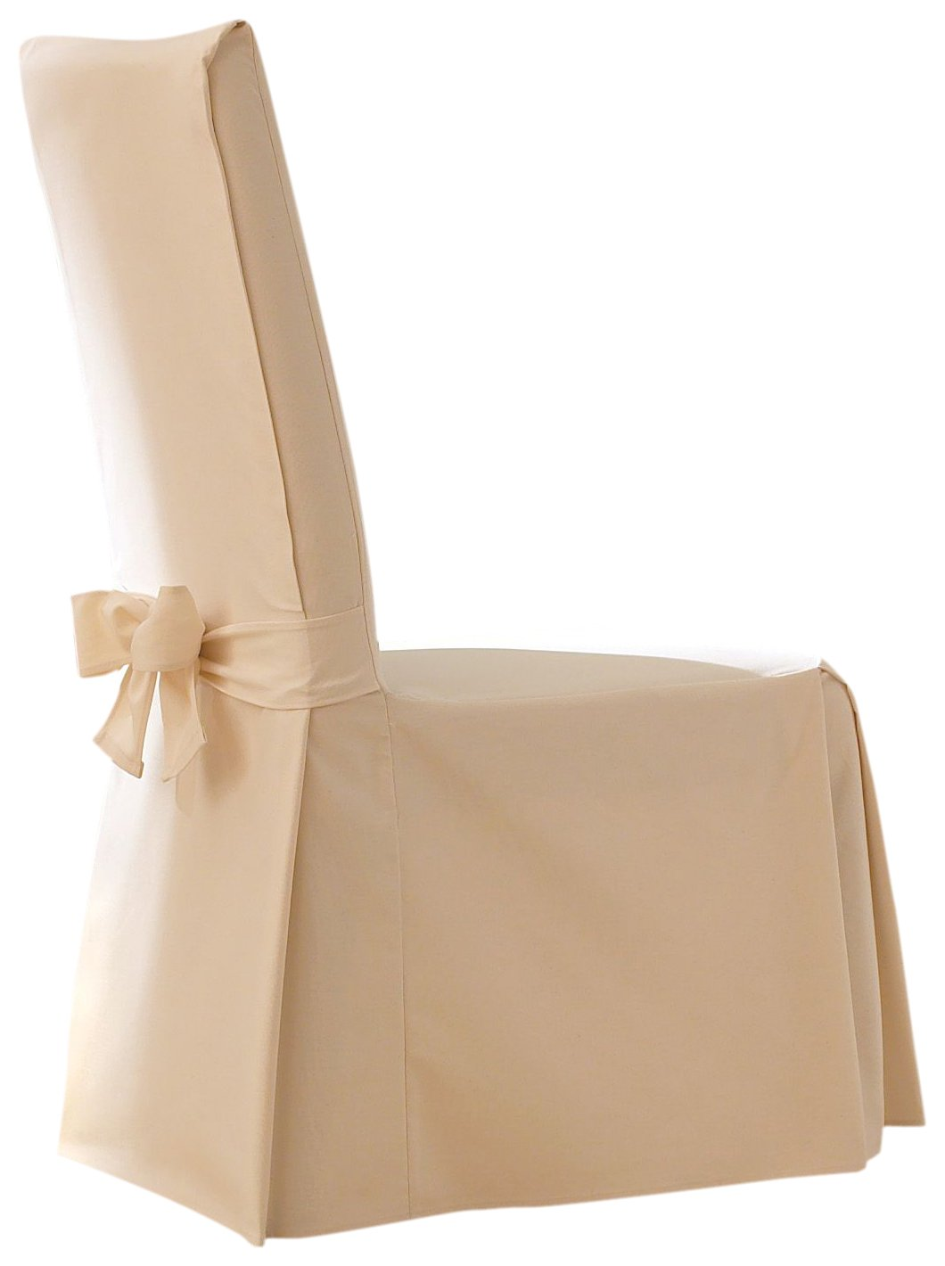 Sure Fit Cotton Duck Full Dining Room Chair Cover, Natural