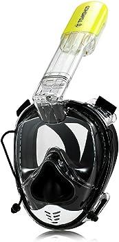 Tomshoo 180 Panoramic Snorkel Swimming Mask w/ Camera Mount