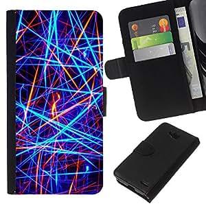 All Phone Most Case / Oferta Especial Cáscara Funda de cuero Monedero Cubierta de proteccion Caso / Wallet Case for LG OPTIMUS L90 // Bright Neon Colors Red Black