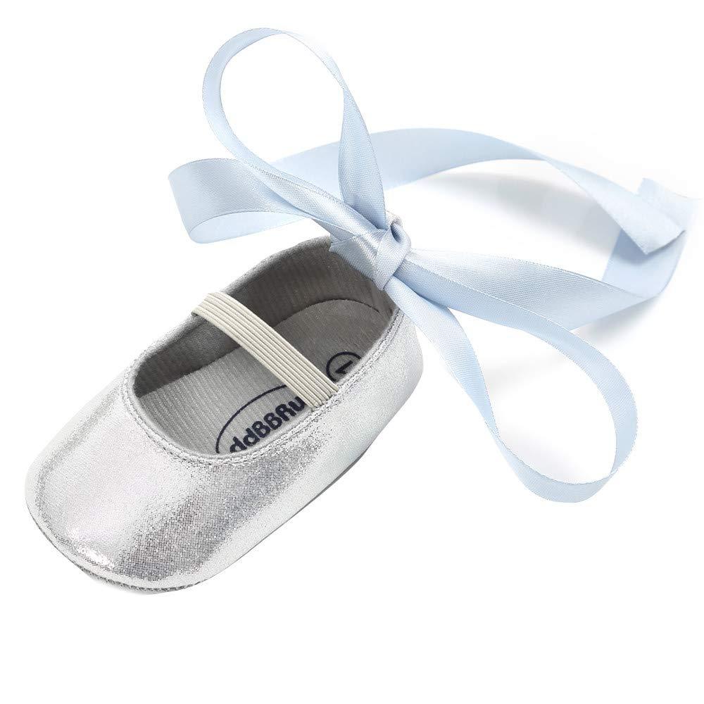 Zapatos de Primeros Pasos para Bebe Niñas Moda Otoño Invierno 2018 PAOLIAN Zapatos de Vestir Navidad Fiesta Zapatillas de Estar por Casa para recién Nacidos Calzado Bailarinas Suela Blanda