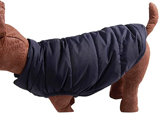 rot winddichte Hundeweste JoyDaog 2-lagige mit Fleece gef/ütterte Hundejacke extraweiche sehr warm f/ür Winter und kaltes Wetter