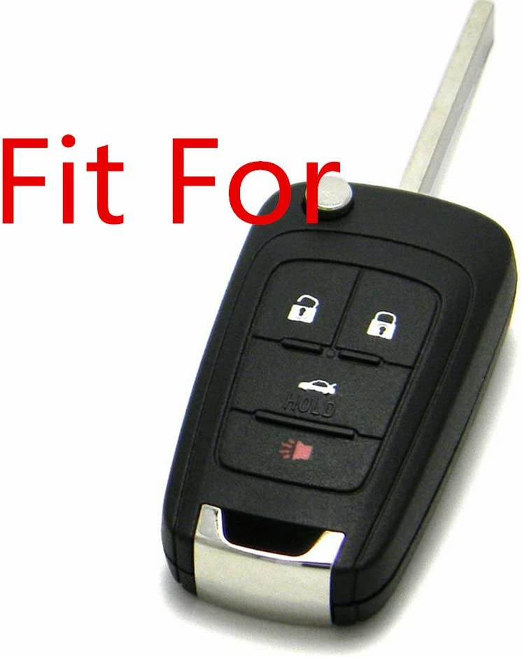 Protecting Silicone Fob Skin Key Cover Key Jacket Protector Keyless Entry Fob Remote for CHEVROLET Malibu Camaro Cruze Equinox Sonic Spark Volt Flip Key Case Fob 4Bts