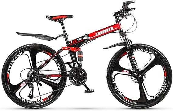AminBike Bicicleta de montaña Plegable 21 Speed Shifter Plegable ...