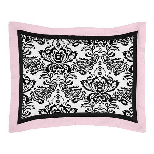 Sweet Jojo Designs 3-Piece Pink and Black Sophia Children's and Teen Full / Queen Girls Bedding Set