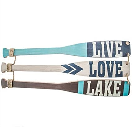 Amazon.com: TNS STORE Live, Love, Lake Paddle Wood Wall Decor Sign ...