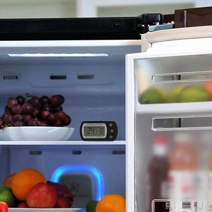 Compra Termómetro para frigorífico o congelador, pantalla LCD ...