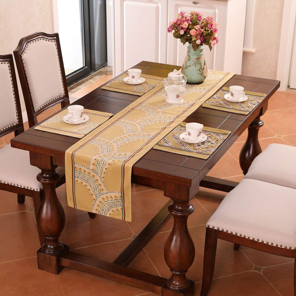 布テーブルランナー長方形ヨーロッパレストランテーブルカバータオル多機能装飾茶テーブルキャビネットホテルベッドタオル g (色 : A, サイズ さいず : 30x280cm) 30x280cm A B07RLXR2V1