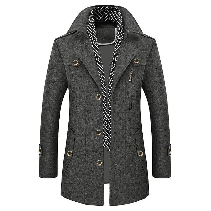 Malloom Rompevientos para Hombre Patagonia Hombres Otoño Invierno Fila Botón Abrigo Top Blusa Chaqueta Jacket Outerwear Tops Blazer Sudaderas para Hombres: ...