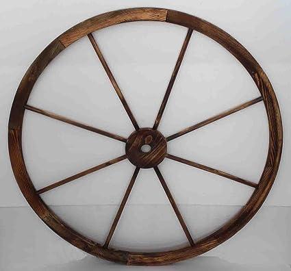 Rueda carro de madera diámetro 1 metro