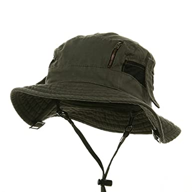 67e51b0c758fd Canvas Fisherman Hat-Olive at Amazon Men s Clothing store