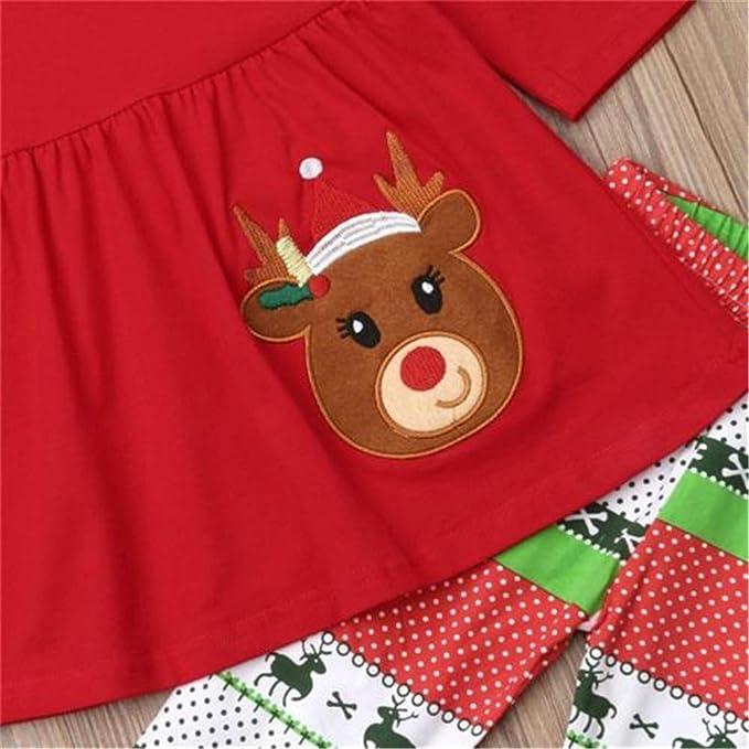Wang-RX Niños Bebés Niñas Top Floral Camiseta Legging ...