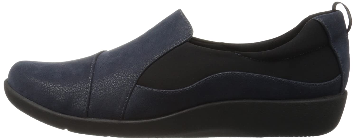 Clarks Slip-on Damens's CloudSteppers Sillian Paz Slip-on Clarks Loafer, Navy Synthetic Nubuck, 6 M US 88f026