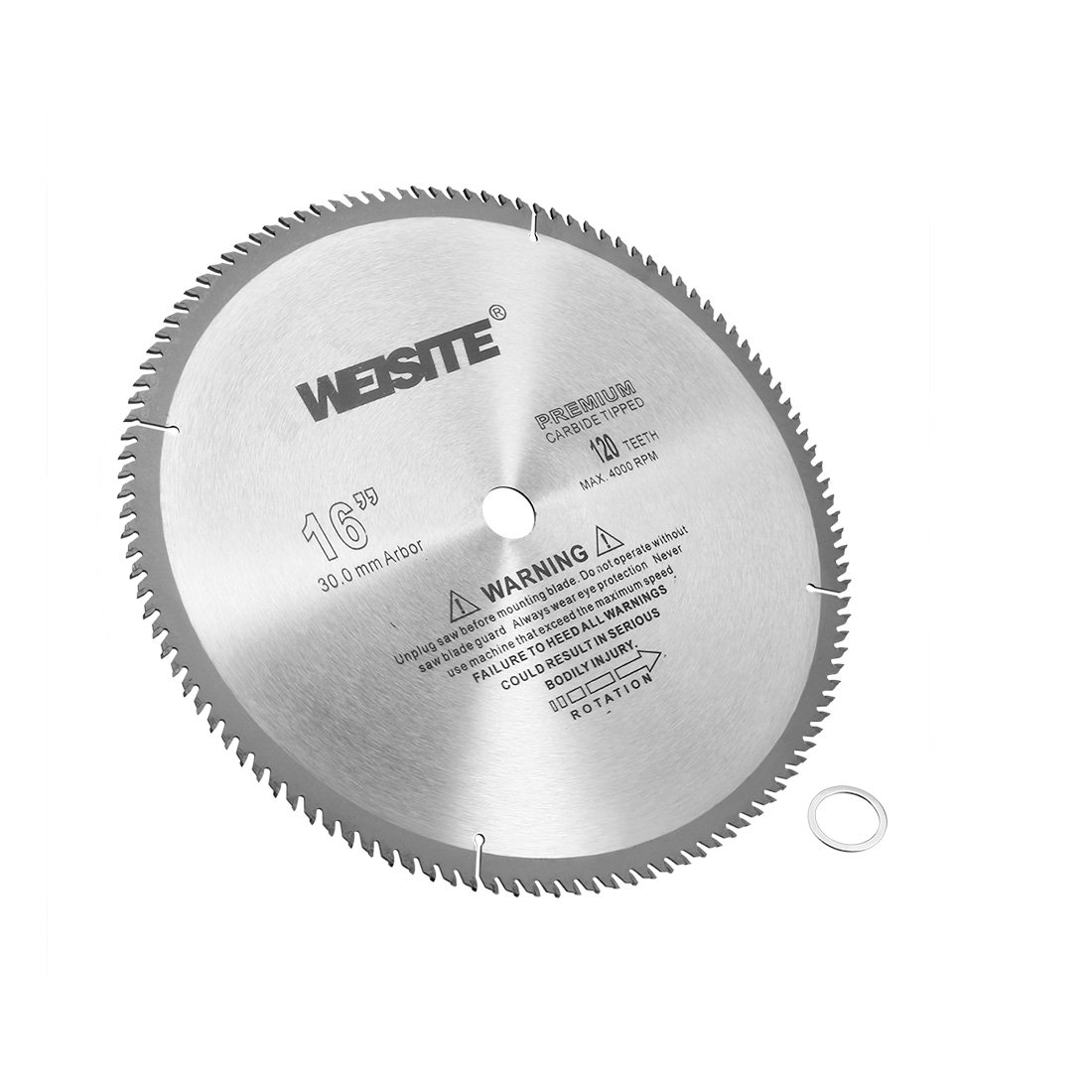uxcell 16-Inch 120T 4000RPM TCT Premium Carbide Tip Circular Saw Blade w 1-inch Arbor