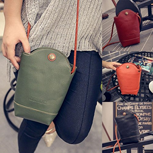 Bags Small Women Satchel Cover Leather PU Slim Green for Crossbody Shoulder Vintage Body CieKen Bags CwUHqOw