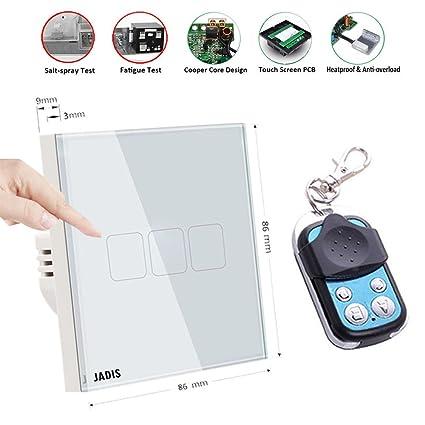 Pantalla táctil interruptor de luz Smart RF 433,92 mhz Interruptor de pared, UE