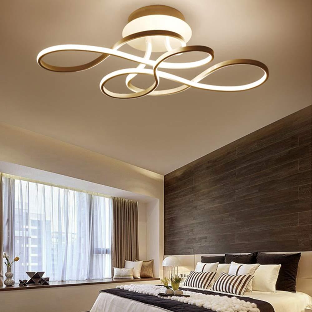 YAYONG Lampada da soffitto a LED con lampadario con Telecomando Illuminazione Camera da Letto Moderna dimmerabile,Black