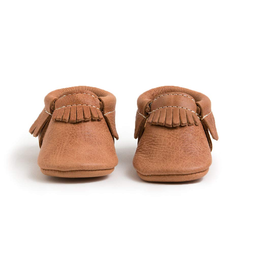 Freshly Picked Soft Sole Leather Baby Moccasins - Zion Size 3