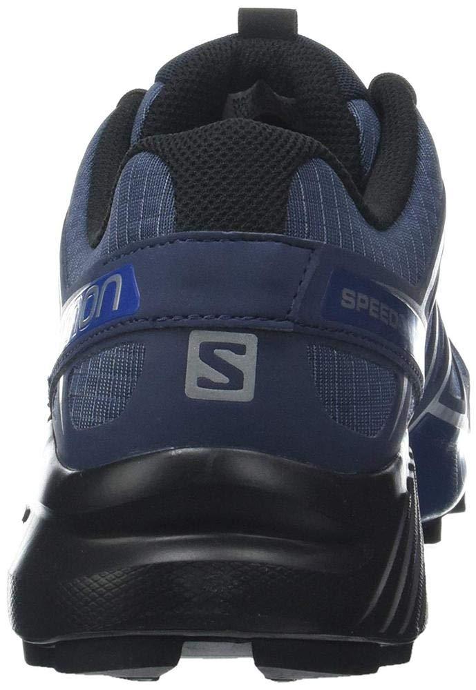 Salomon Men's Speedcross 4 Trail Runner, Slate Black/Blue Yonder, 7 D US by Salomon (Image #9)