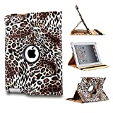 Revesun (Leopard Brown) 360 Degree Rotating Stand Smart Cover PU Leather Case for ipad mini 2 ipad mini2 iPad mini Generation Display (wake/sleep capability)