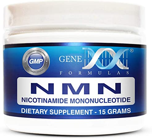Genex NMN Stabilized Form Nicotinamide Mononucleotide (15 Grams) - Certified 99% Pure Powder   Works Best When Paired with Resveratrol   Direct NAD+ Supplement More Stable Than Riboside