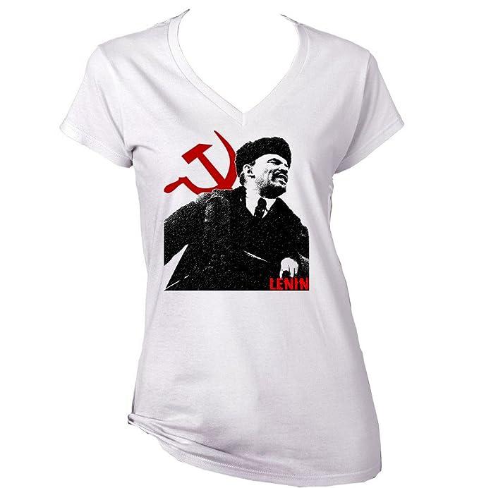 esRopa 2 Camiseta Lenin AlgodonAmazon De Para Mujer Teesquare1st BoQxWErdCe