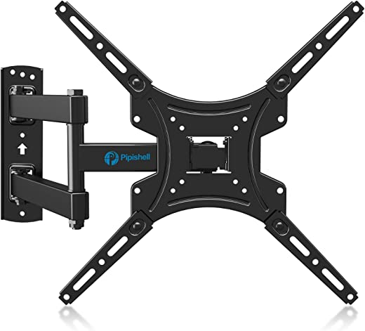 Full Motion TV Wall Mount Bracket Articulating Arms Swivels Tilts Extension Rotation for Most 13-55 Inch LED LCD Flat Curved Screen TVs, Max VESA…