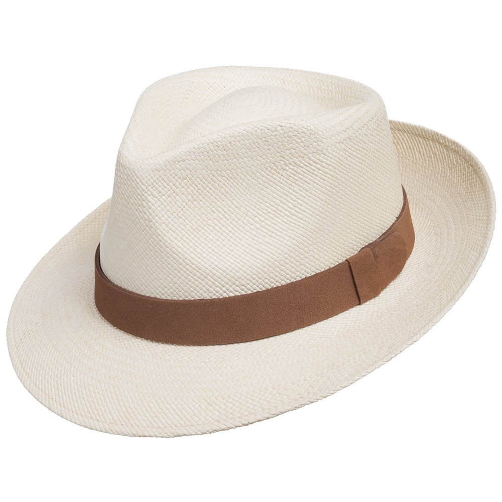 Genuine Havana CLASSIC Panama Straw Dress Hat Comfortable LEATHER HATBAND 6 7/8