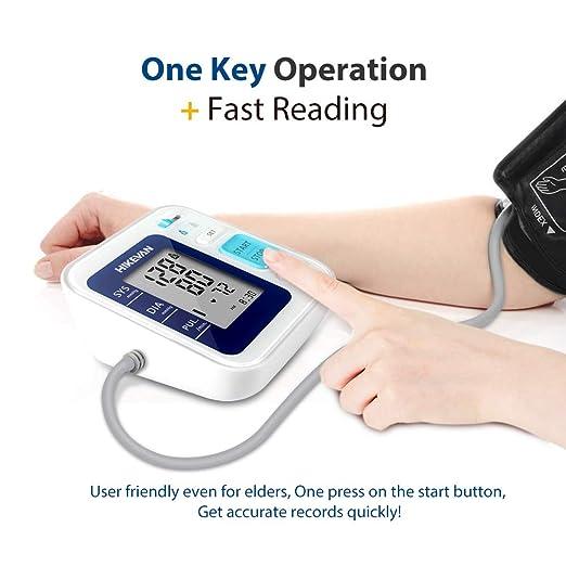 Amazon.com: HIKEVAN Blood Pressure Monitor Upper Arm Bp Monitor with Talking & Mute Design,Wide Range Cuff,2 * 120 Readings Memory,Irregular Heart-Beat ...