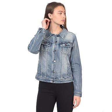 e395b6c495b Lola Jeans Women s Gabriella Classic Stretch Denim Jacket at Amazon Women s  Coats Shop