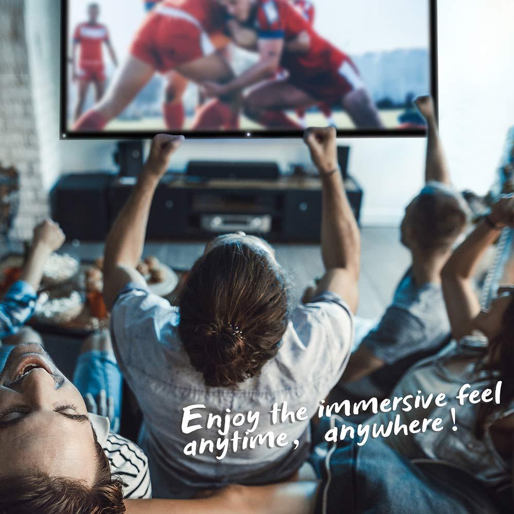 Version Am/élior/ée Anti-Plis Portable /Écran 100 pouces 16 9 pour Projecteur Videoprojecteur 3D Full HD Home Cinema 220X126cm Outils dinstallation inclus NIERBO /Écran de Projection Enroulable