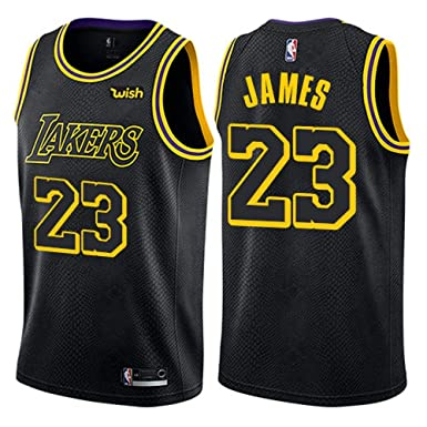 Majestic Athletic Lebron James  23 Los Angeles Lakers Swingman Men s Jersey  (Black bb57213e4