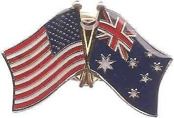 AUSTRALIA FLAG ENAMEL PIN    BUY 2 GET 1 FREE = 3 Of These.