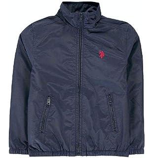 Polo Assn U.S Boys Black Funnel Neck Jacket