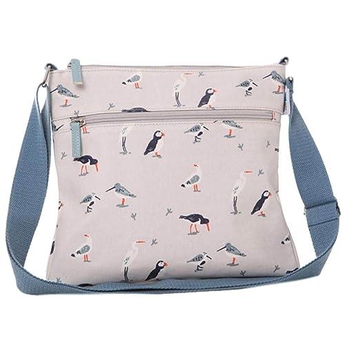 2a506b958f RSPB Bird Shoulder Bag Cream Crossbody Ladies Puffin Wading Birds Gulls  Across body Cross Body Handbag Puffins  Amazon.co.uk  Shoes   Bags